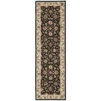 Safavieh Hand-hooked Chelsea Tabriz Black/ Ivory Wool Runner Rug - 2'6 x 8'