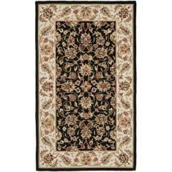 Safavieh Hand-hooked Chelsea Tabriz Black/ Ivory Wool Rug (2'9 x 4'9)