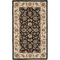 Safavieh Hand-hooked Chelsea Tabriz Black/ Ivory Wool Rug - 2'9 x 4'9