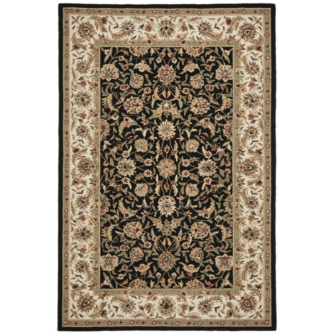 Safavieh Hand-hooked Chelsea Tabriz Black/ Ivory Wool Rug - 3'9 x 5'9