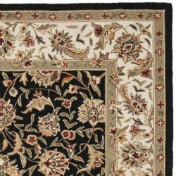 Safavieh Hand-hooked Chelsea Tabriz Black/ Ivory Wool Rug (3'9 x 5'9) - Thumbnail 1