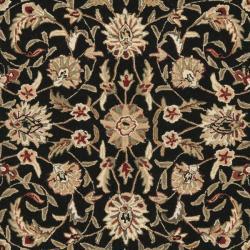 Safavieh Hand-hooked Chelsea Tabriz Black/ Ivory Wool Rug (3'9 x 5'9) - Thumbnail 2