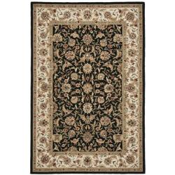 Safavieh Hand-hooked Chelsea Tabriz Black/ Ivory Wool Rug - 3'9 x 5'9 - Thumbnail 0