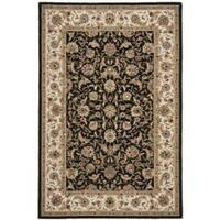 Safavieh Hand-hooked Chelsea Tabriz Black/ Ivory Wool Rug (3'9 x 5'9)