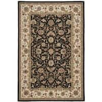 Safavieh Hand-hooked Chelsea Tabriz Black/ Ivory Wool Rug - 5'3 x 8'3