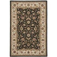 Safavieh Hand-hooked Chelsea Tabriz Black/ Ivory Wool Rug - 6' x 9'