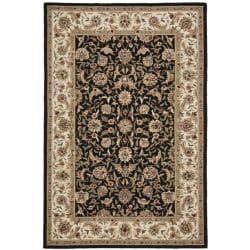 Safavieh Hand-hooked Chelsea Tabriz Black/ Ivory Wool Rug (8'9 x 11'9)