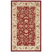 Safavieh Hand-hooked Chelsea Tabriz Burgundy/ Ivory Wool Rug - 1'8 x 2'6