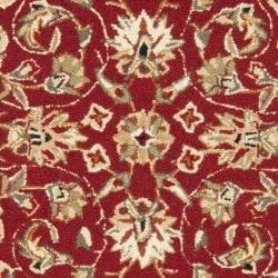 Safavieh Hand-hooked Chelsea Tabriz Burgundy/ Ivory Wool Rug (2' 9 x 4' 9) - Thumbnail 2