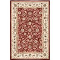 Safavieh Hand-hooked Chelsea Tabriz Burgundy/ Ivory Wool Rug - 3' 9 x 5' 9