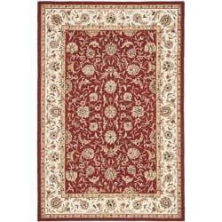 Safavieh Hand-hooked Chelsea Tabriz Burgundy/ Ivory Wool Rug (5' 3 x 8' 3)