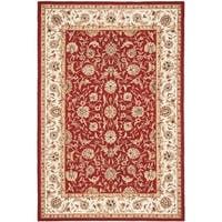 Safavieh Hand-hooked Chelsea Tabriz Burgundy/ Ivory Wool Rug - 6' x 9'