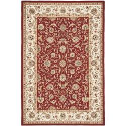 Safavieh Hand-hooked Chelsea Tabriz Burgundy/ Ivory Wool Rug - 7'9 x 9'9 - Thumbnail 0