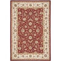 Safavieh Hand-hooked Tabriz Burgundy/ Ivory Wool Rug - 8'9 x 11'10