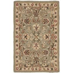 Safavieh Hand-hooked Chelsea Tabriz Sage/ Ivory Wool Rug (1'8 x 2'6)