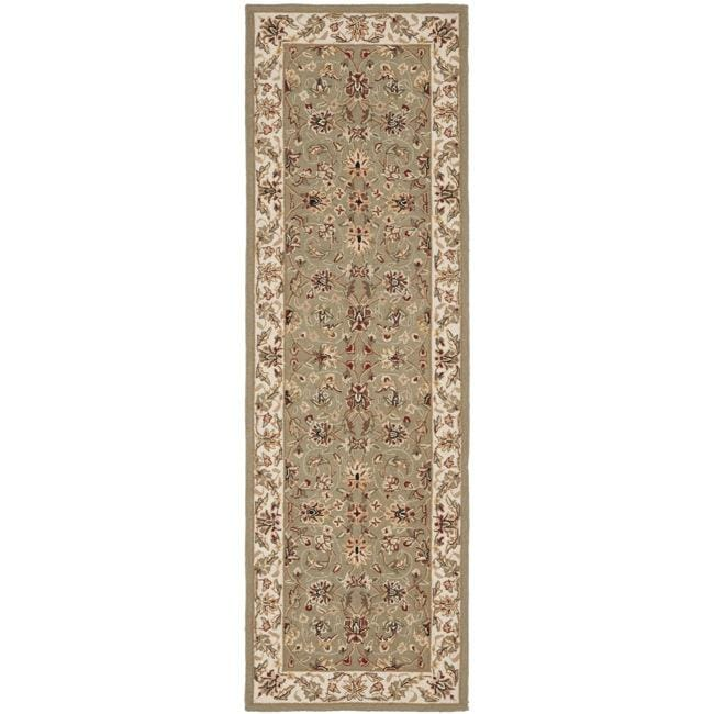 Safavieh Hand-hooked Chelsea Tabriz Sage/ Ivory Wool Runner (2'6 x 12') - Thumbnail 0
