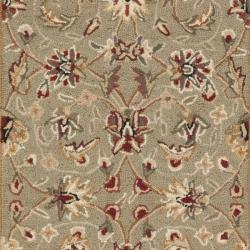 Safavieh Hand-hooked Chelsea Tabriz Sage/ Ivory Wool Runner (2'6 x 12') - Thumbnail 2