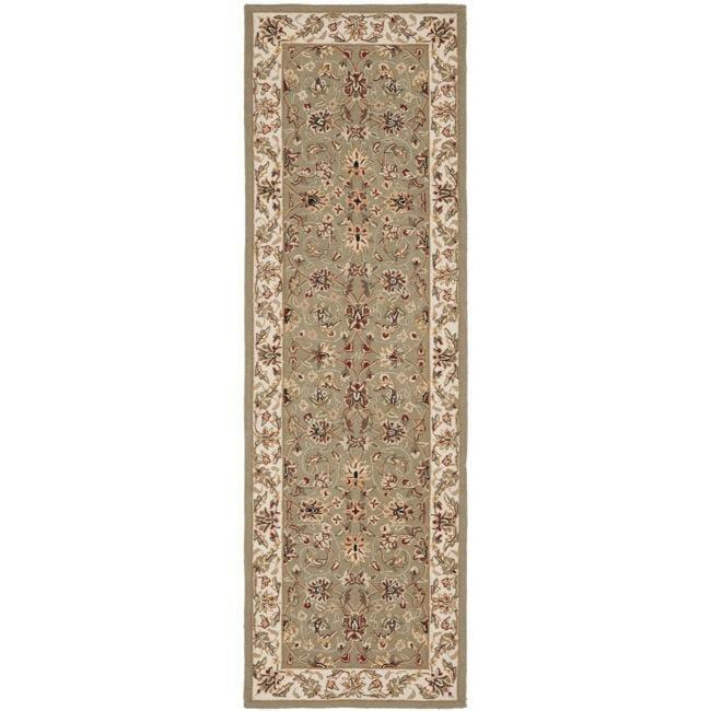 Safavieh Hand-hooked Chelsea Tabriz Sage/ Ivory Wool Runner (2'6 x 8')