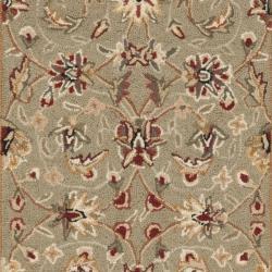 Safavieh Hand-hooked Chelsea Tabriz Sage/ Ivory Wool Runner (2'6 x 8') - Thumbnail 2