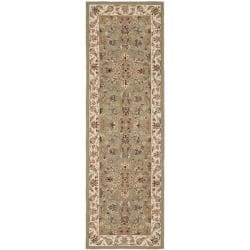 Safavieh Hand-hooked Chelsea Tabriz Sage/ Ivory Wool Runner - 2'6 x 8' - Thumbnail 0