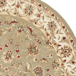 Safavieh Hand-hooked Chelsea Tabriz Sage/ Ivory Wool Rug (4' Round)