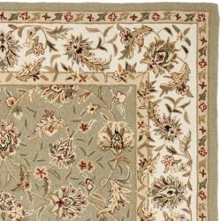 Safavieh Hand-hooked Chelsea Tabriz Sage/ Ivory Wool Rug (6' x 9') - Thumbnail 1