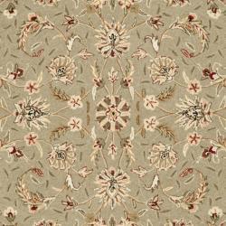 Safavieh Hand-hooked Chelsea Tabriz Sage/ Ivory Wool Rug (6' x 9') - Thumbnail 2