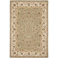 Safavieh Hand-hooked Chelsea Tabriz Sage/ Ivory Wool Rug (6' x 9')