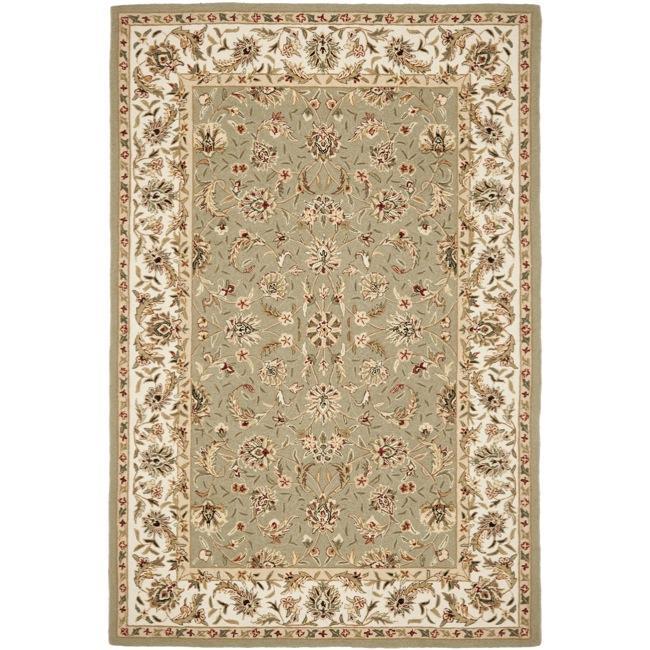 Safavieh Hand-hooked Chelsea Tabriz Sage/ Ivory Wool Rug - 7'9 x 9'9