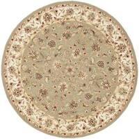 Safavieh Hand-hooked Chelsea Tabriz Sage/ Ivory Wool Rug (8' Round)