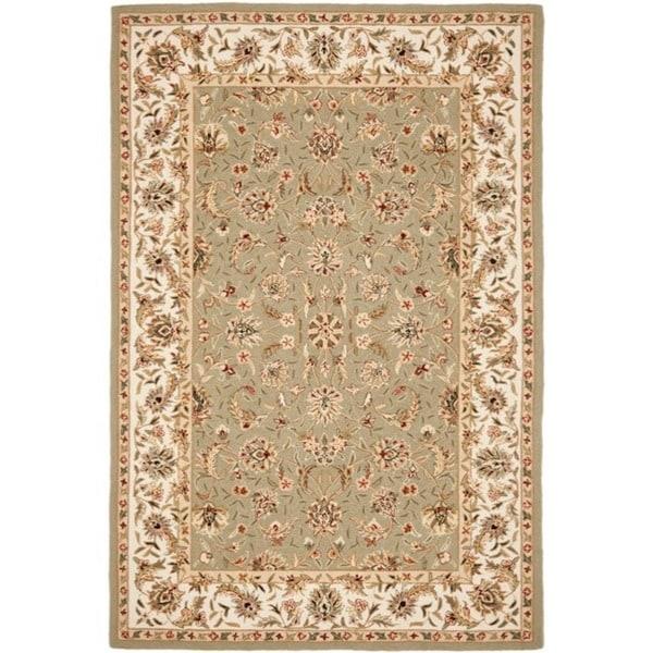 Safavieh Hand-hooked Chelsea Tabriz Sage/ Ivory Wool Rug - 8'9 X 11'9