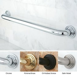 Milano 24-inch 3-layer Flange Grab Bar