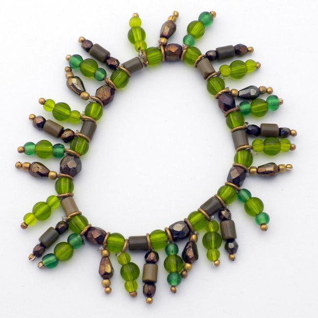 Glass Olive Charm Bracelet (India)