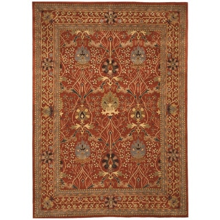 "Hand-tufted Wool Rust Traditional Oriental Morris Rug - 8'9"" x 11'9"""