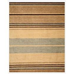 EORC Hand-tufted Wool Beige Alden Rug (7'9 x 9'9)
