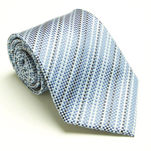 Platinum Ties Men's 'Blue Harmony' Tie