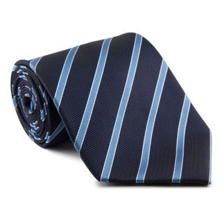 Platinum Ties Men's Striped Blue 'Ocean Party' Tie
