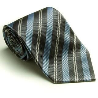 Platinum Ties Men's 'Baby Blue Banister' Tie