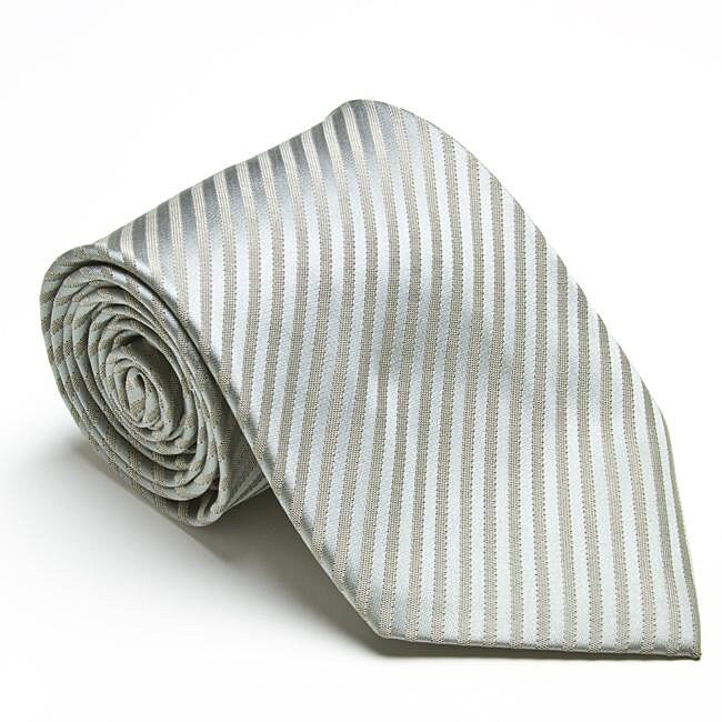 Platinum Ties Men's 'Silver Mood' Tie