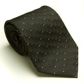 Platinum Ties Men's 'Black Dial' Tie