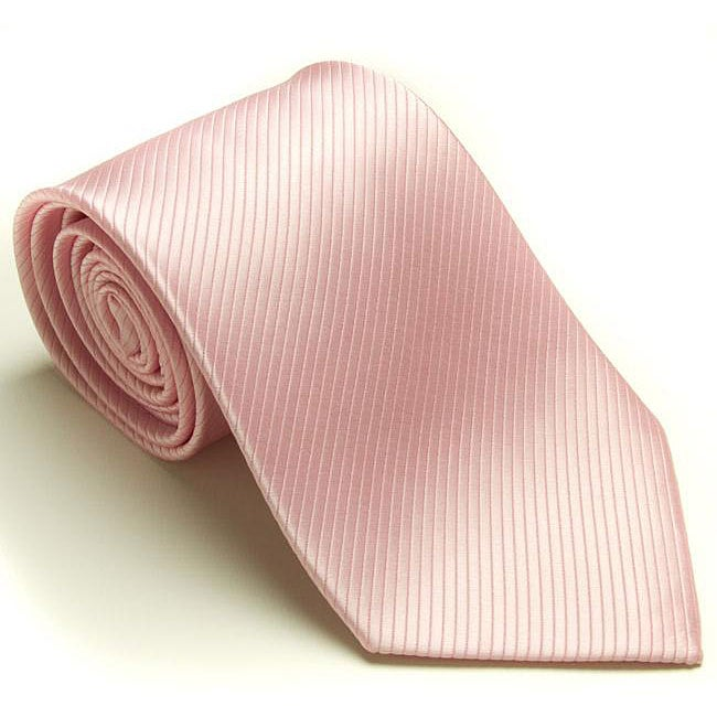 Platinum Ties Men's 'Pink Weave' Tie