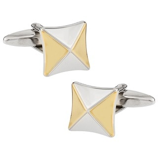 Cuff Daddy Rhodium Classic Two-tone Wear Cuff Links