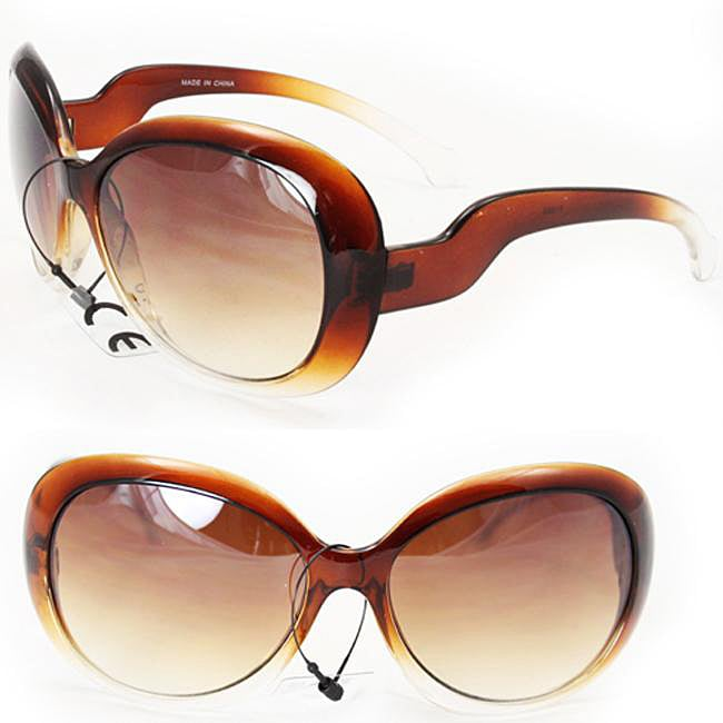 Women's Two-tone Brown Fashion Sunglasses