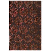 Tufted Flori Gianti Cranberry Wool - 5' x 8'