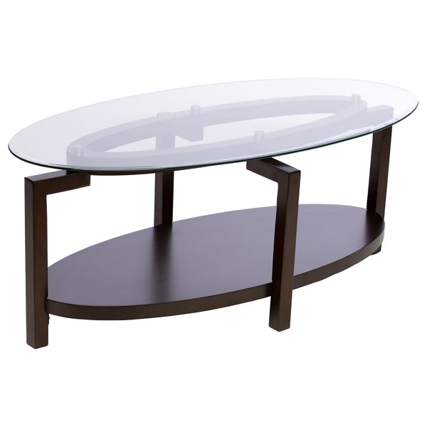 Tanner Espresso Coffee Table With Shelf   Free Shipping Today    Overstock.com   13055058