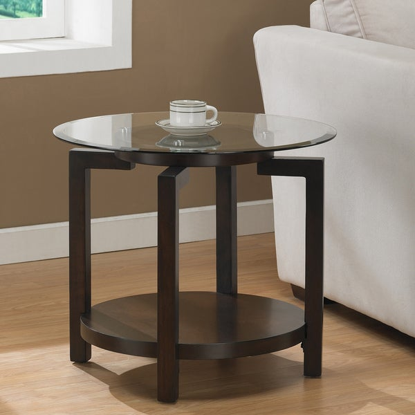 Tanner Espresso End Table With Shelf   Free Shipping Today   Overstock.com    13055059