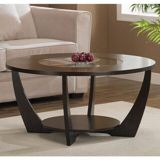 Gracewood Hollow Archer Espresso Coffee Table with Shelf