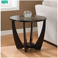 Strick & Bolton Archer Espresso End Table with Shelf