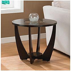 Strick & Bolton Archer Espresso End Table with Shelf