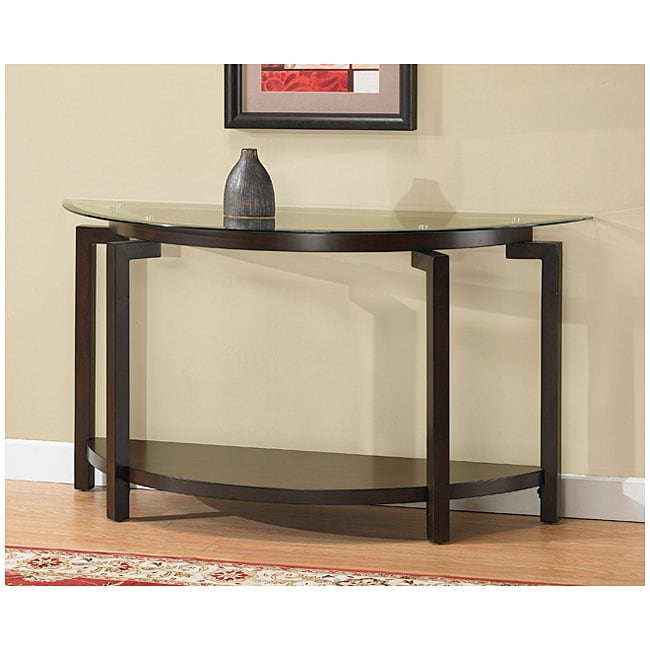 Tanner Espresso Sofa Table With Shelf
